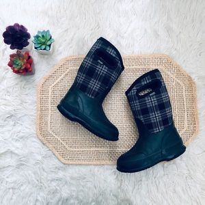 Bogs Winter Plaid Insulated Boots Kids 10